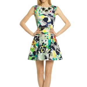 Rachel Roy Multicolor Artsy Cocktail Dress - 6